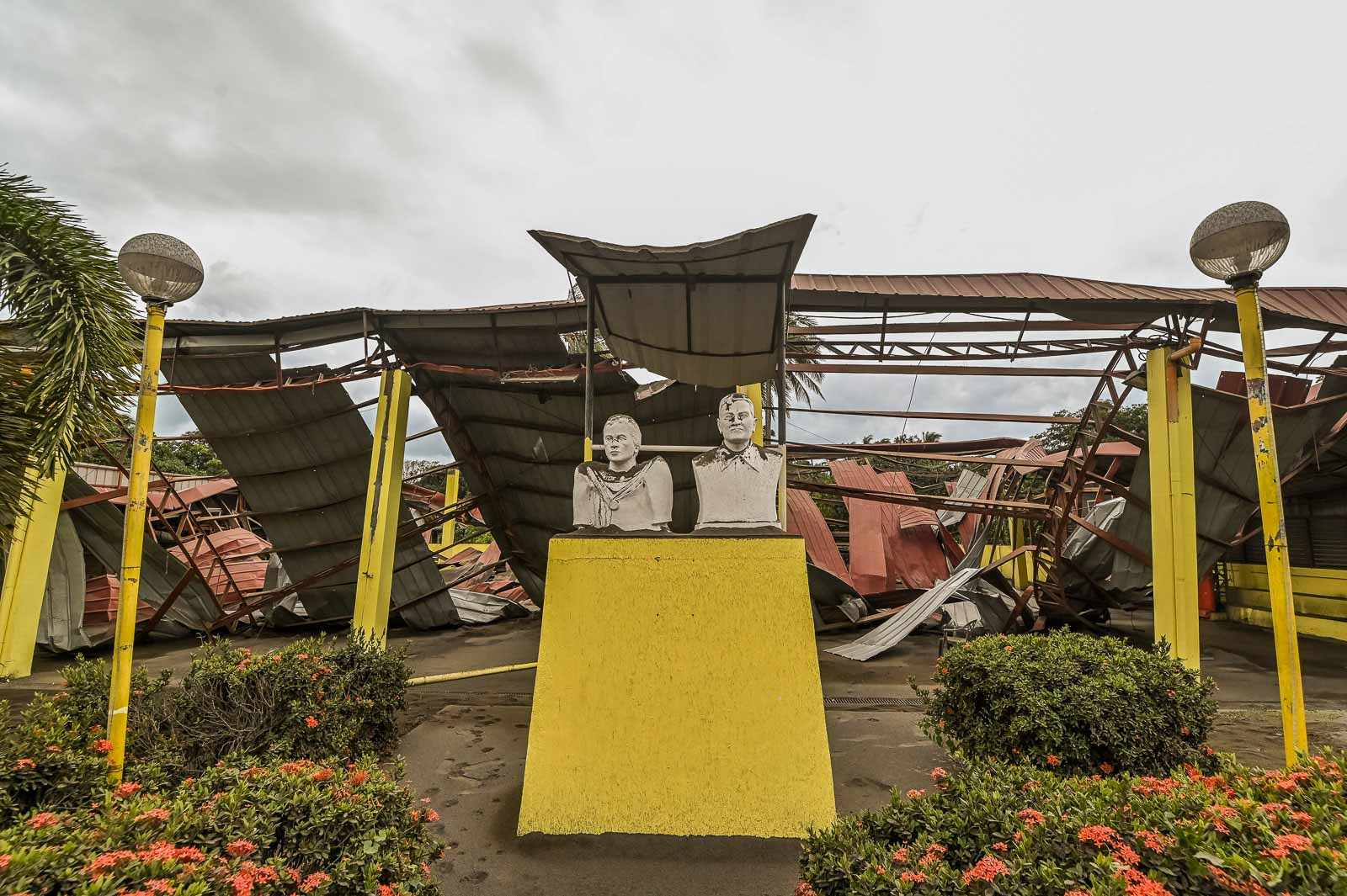 COLLAPSED. The San Teodoro covered court in Barangay San Teodoro, Agoncillo, Batangas on January 15.