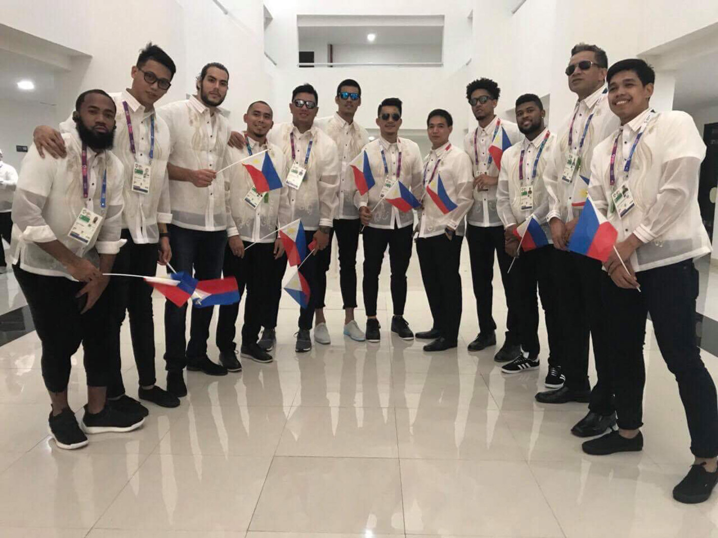 ALL SET. The team will join the rest of the 272-strong Philippine contingent in the opening march.