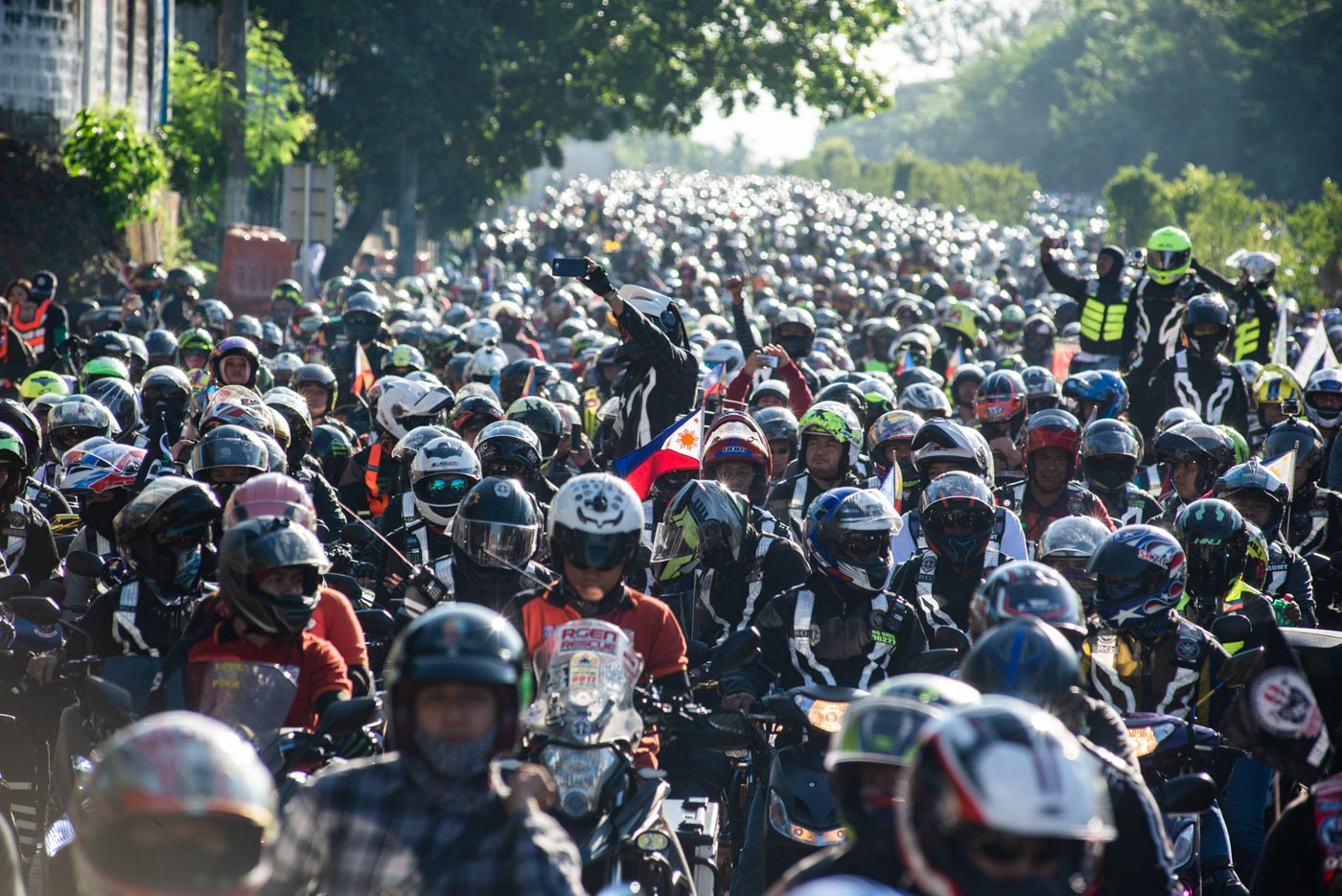 POLICE ESTIMATE. Up to 10,000 motorcycle riders joined the 'Unity Ride' on March 24, 2019, according to the Philippine National Police. Photo by Maria Tan/Rappler