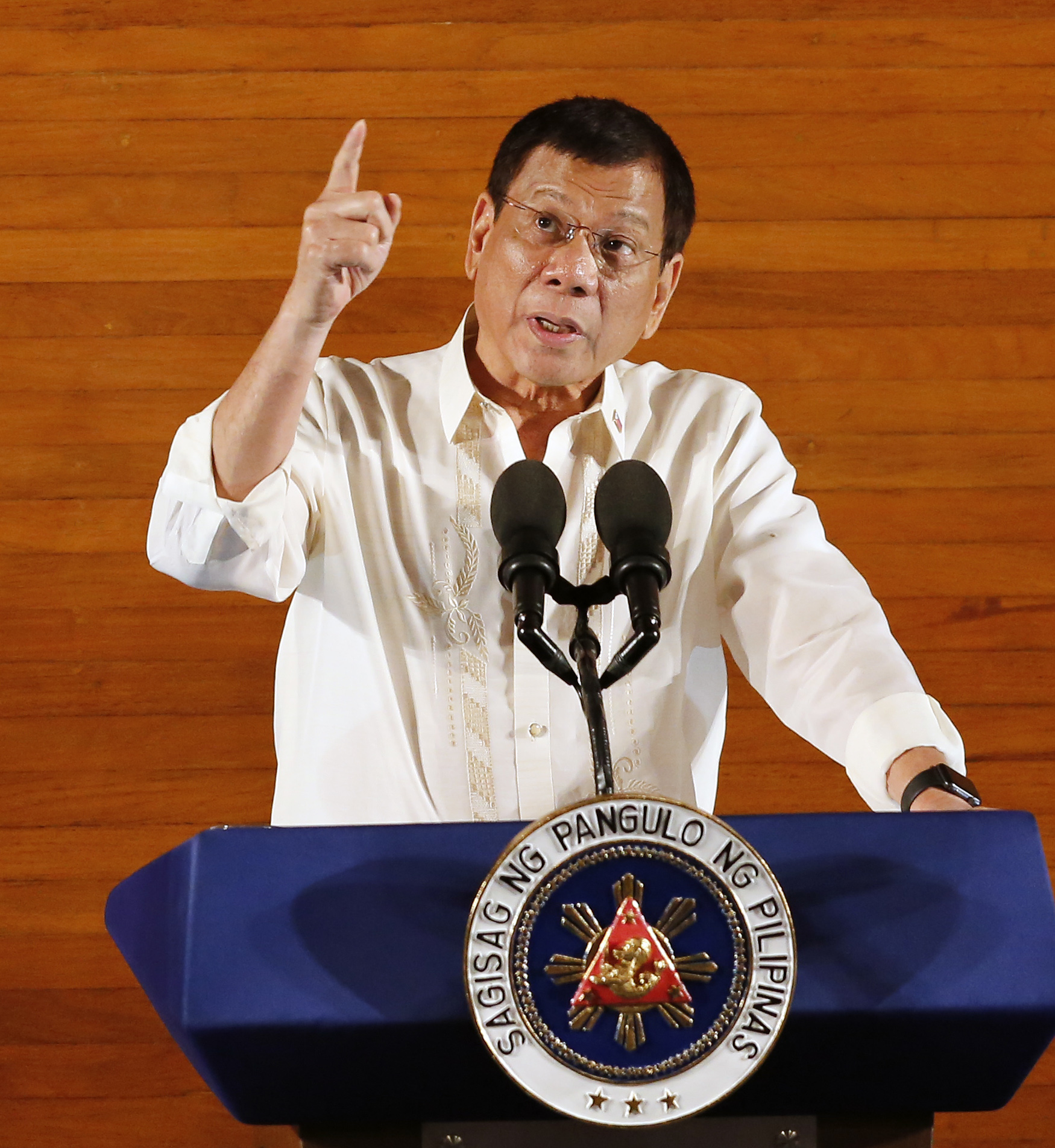 SONA 2016. President Rodrigo Duterte delivers his first State of the Nation Address during the opening of the 17th Congress at the House of Representatives on July 25, 2016. File photo by Francis R. Malasig/EPA