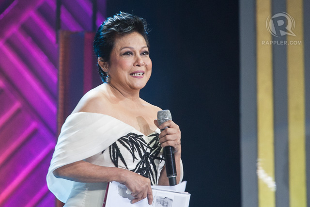 LIFETIME ACHIEVEMENT AWARD. Superstar Nora Aunor promises to continue on in the industry. Photo by Manman Dejeto/Rappler