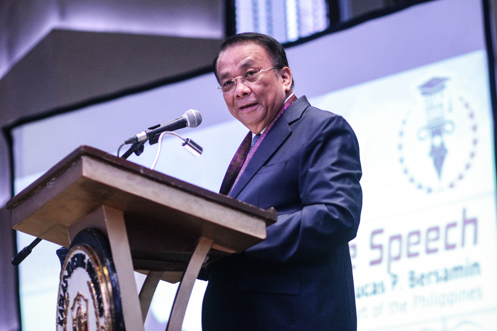 PCSO CASES. Chief Justice Lucas Bersamin tells reporters at the sidelines of the Legal Education Summit on July 31, 2019 that the Supreme Court may 'come in' if trial court injunctions in PCSO cases are found irregular. Photo by Lito Borras/Rappler