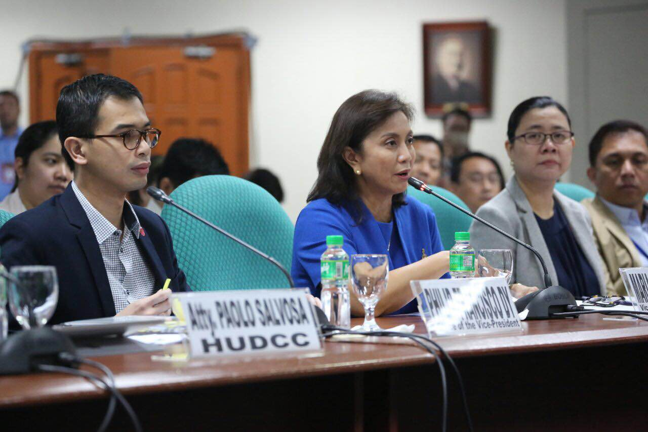 HOUSING BUDGET. Vice President Leni Robredo attends the Senate hearing on the budget of the housing sector on September 7, 2016. Photo from the Office of the Vice President