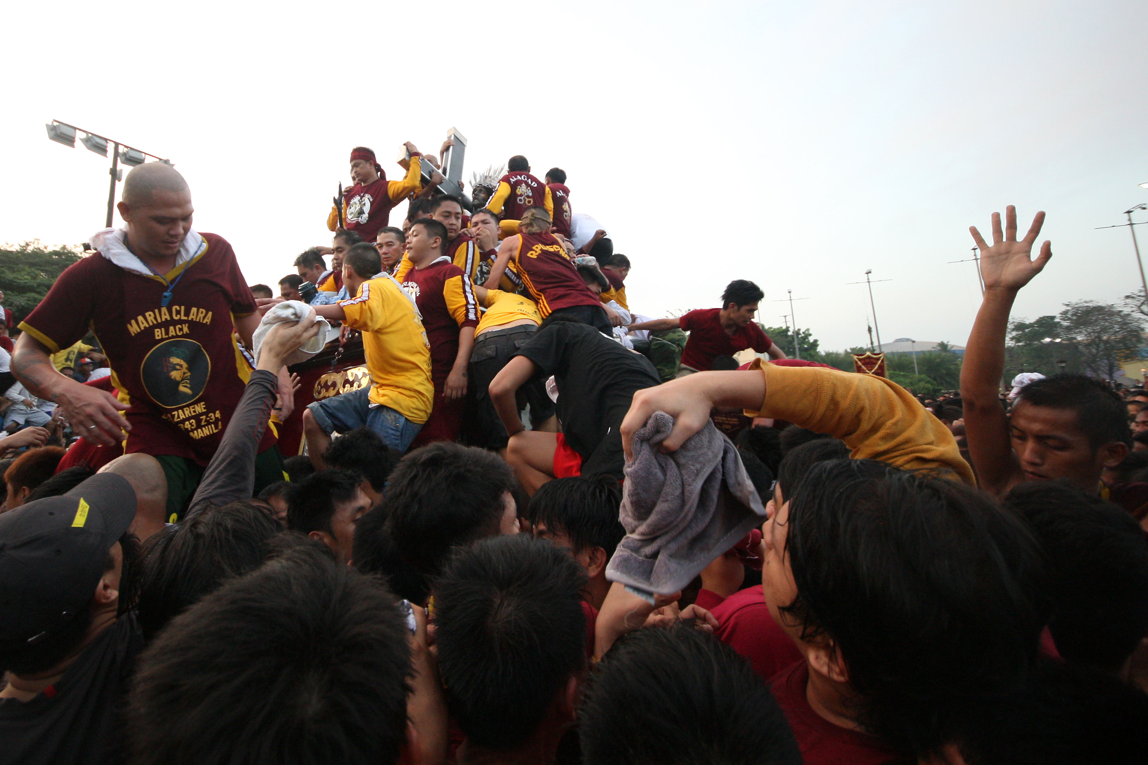 MIRACLE. Some devotees hope for miracles or thank the Black Nazarene for blessings received. Photo by Ben Nabong/Rappler