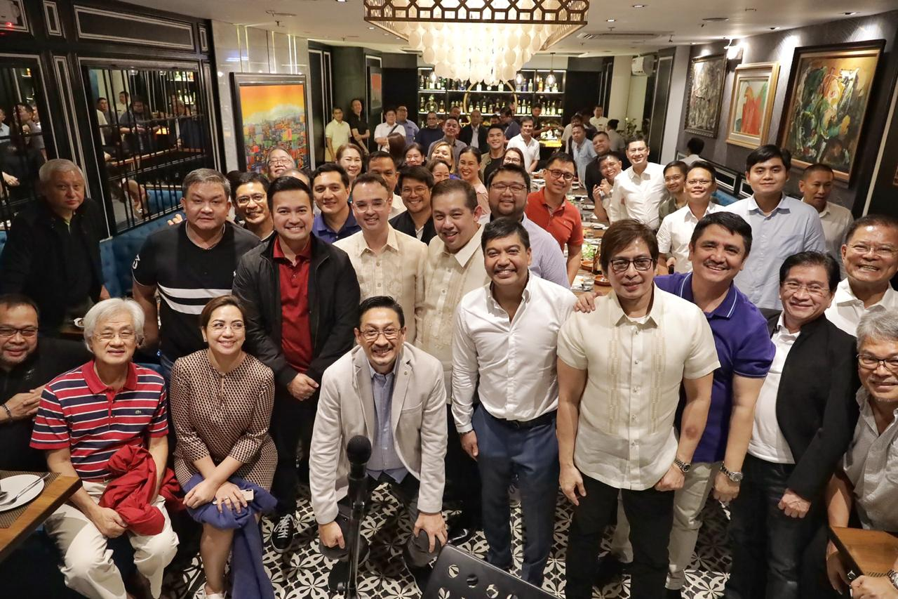 JOINED FORCES. Taguig-Pateros Representative Alan Peter Cayetano with Marinduque Representative Lord Allan Velasco and Leyte Representative Martin Romualdez and their allies. Photo from Cayetano's office