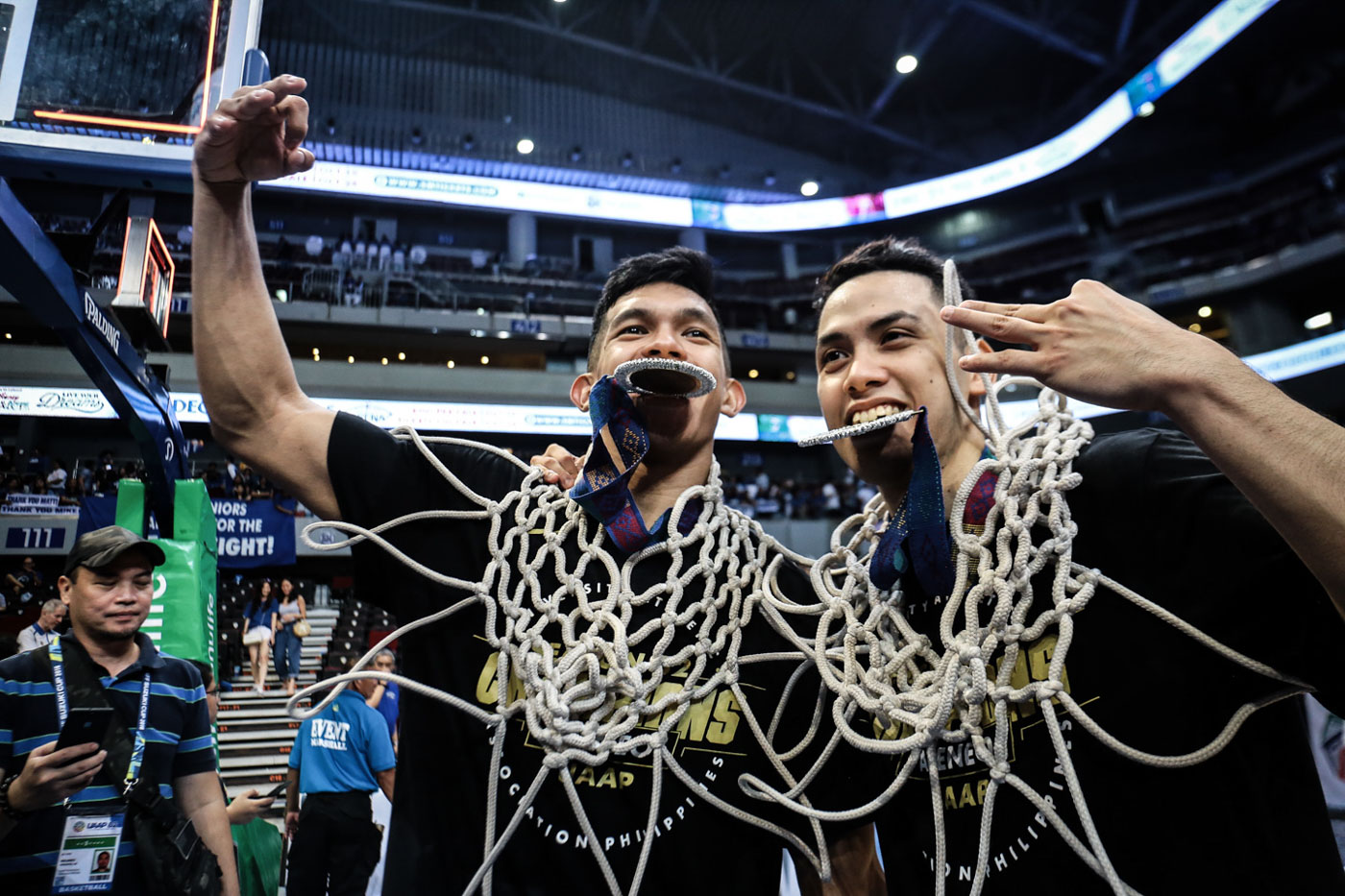 PILLARS. Thirdy Ravena and Matt Nieto graduate as champions. Photo by Josh Albelda/Rappler