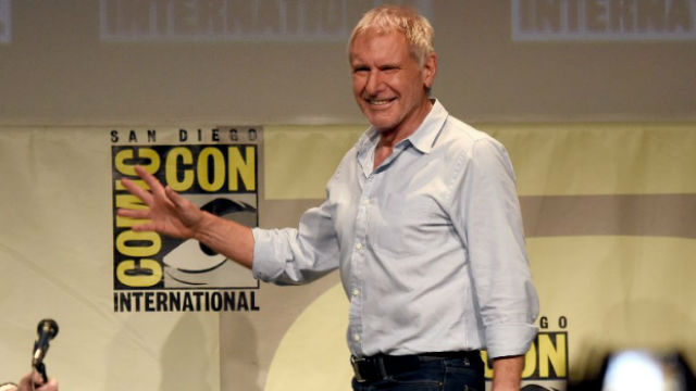 Harrison Ford arriving at Comic-Con in San Diego last July. File photo by Kevin Winter/Getty Images/AFP