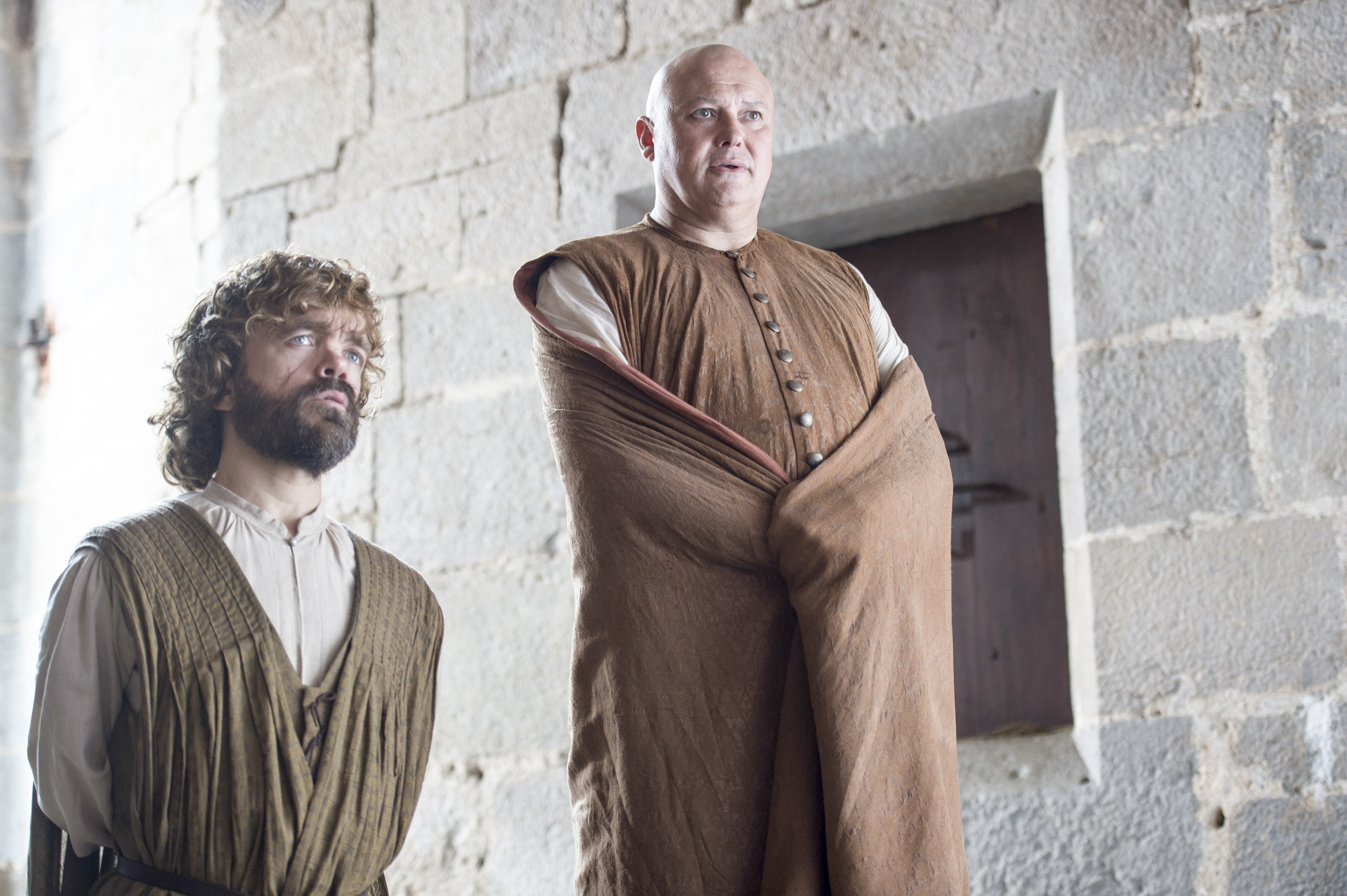 Peter Dinklage as Tyrion Lannister and Conleth Hill as Varys. Photo by Macall B.Polay/HBO
