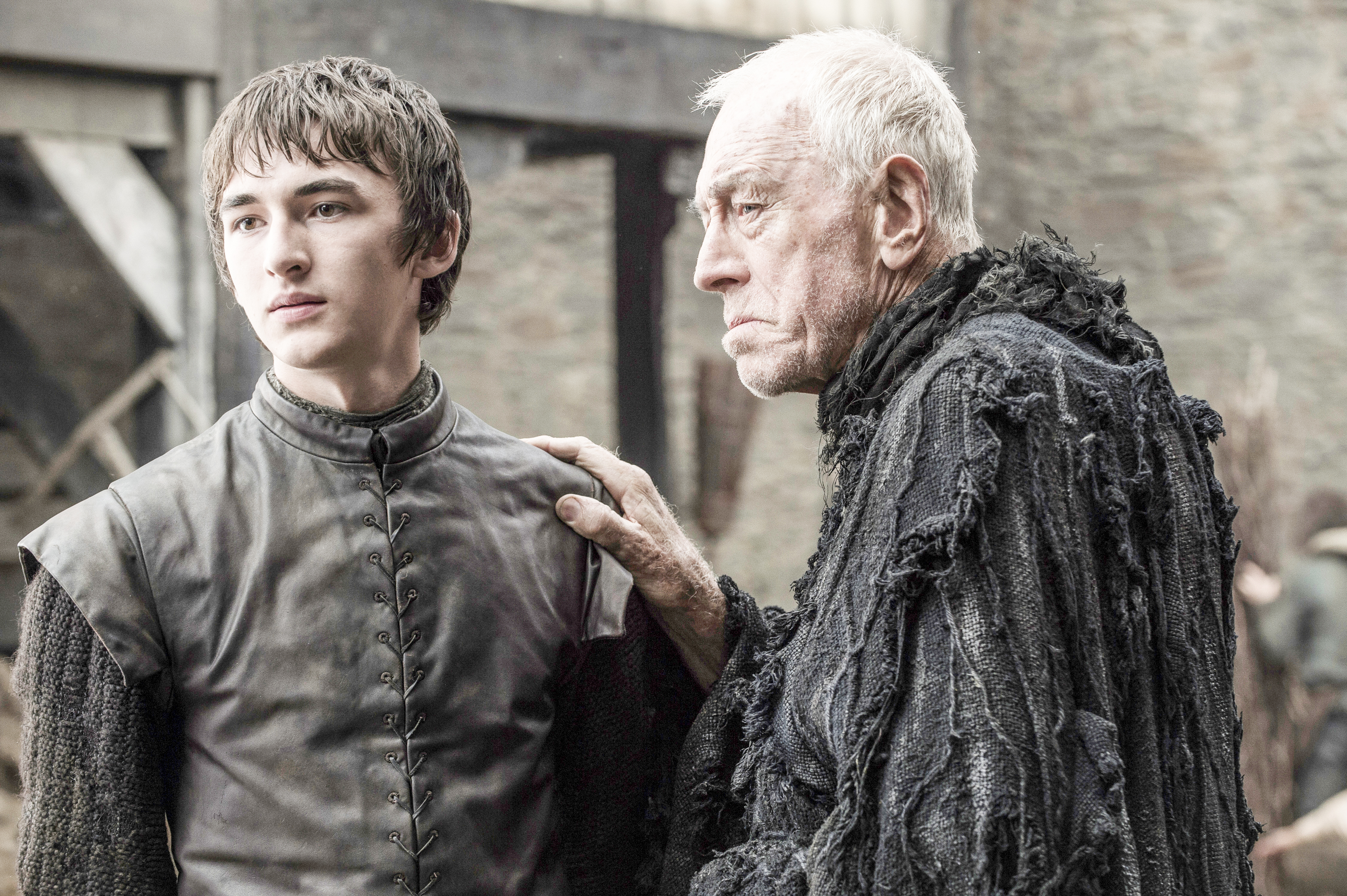 Isaac Hempstead-Wright as Bran Stark and Max von Sydow as the Three-Eyed Raven. Photo by Helen Sloan/HBO