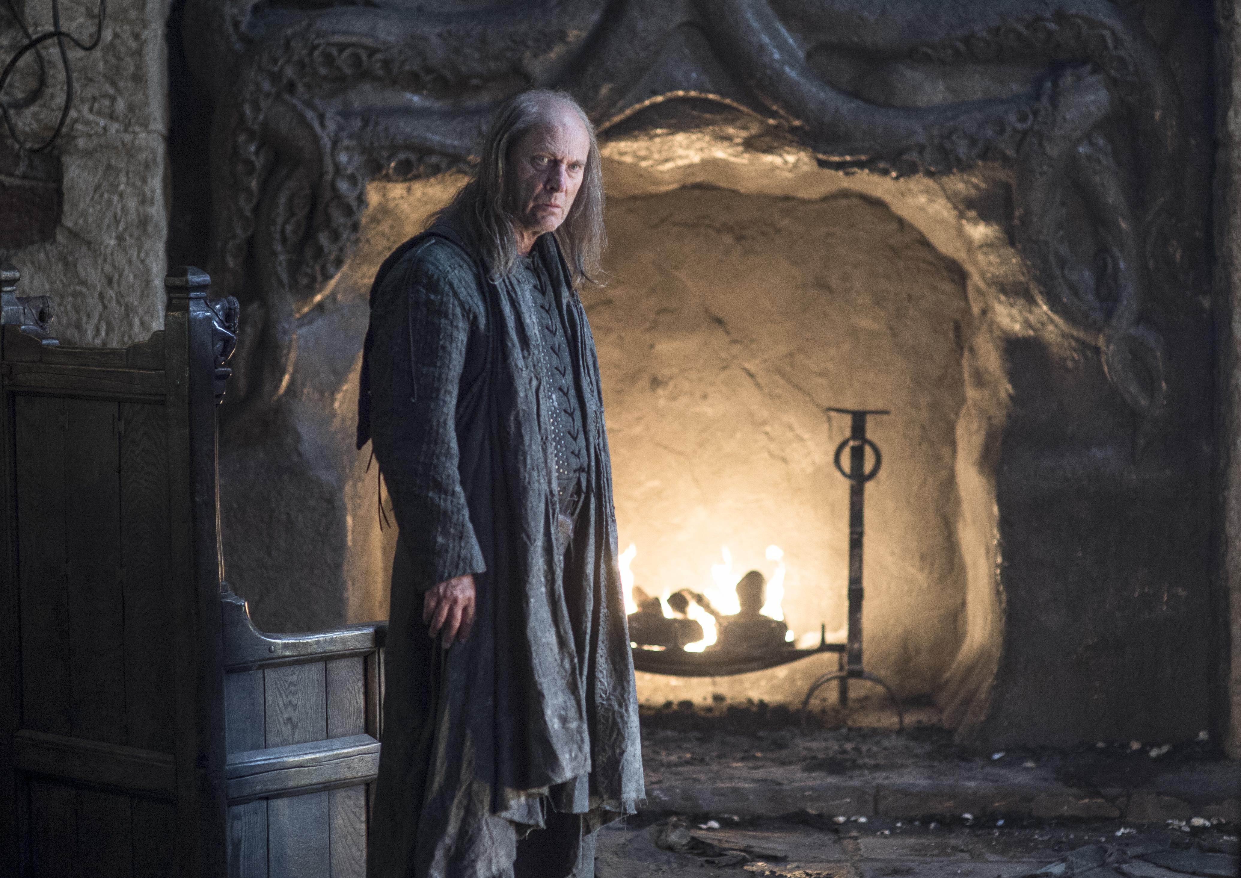 Patrick Malahide as Balon Greyjoy. Photo by Helen Sloan/HBO