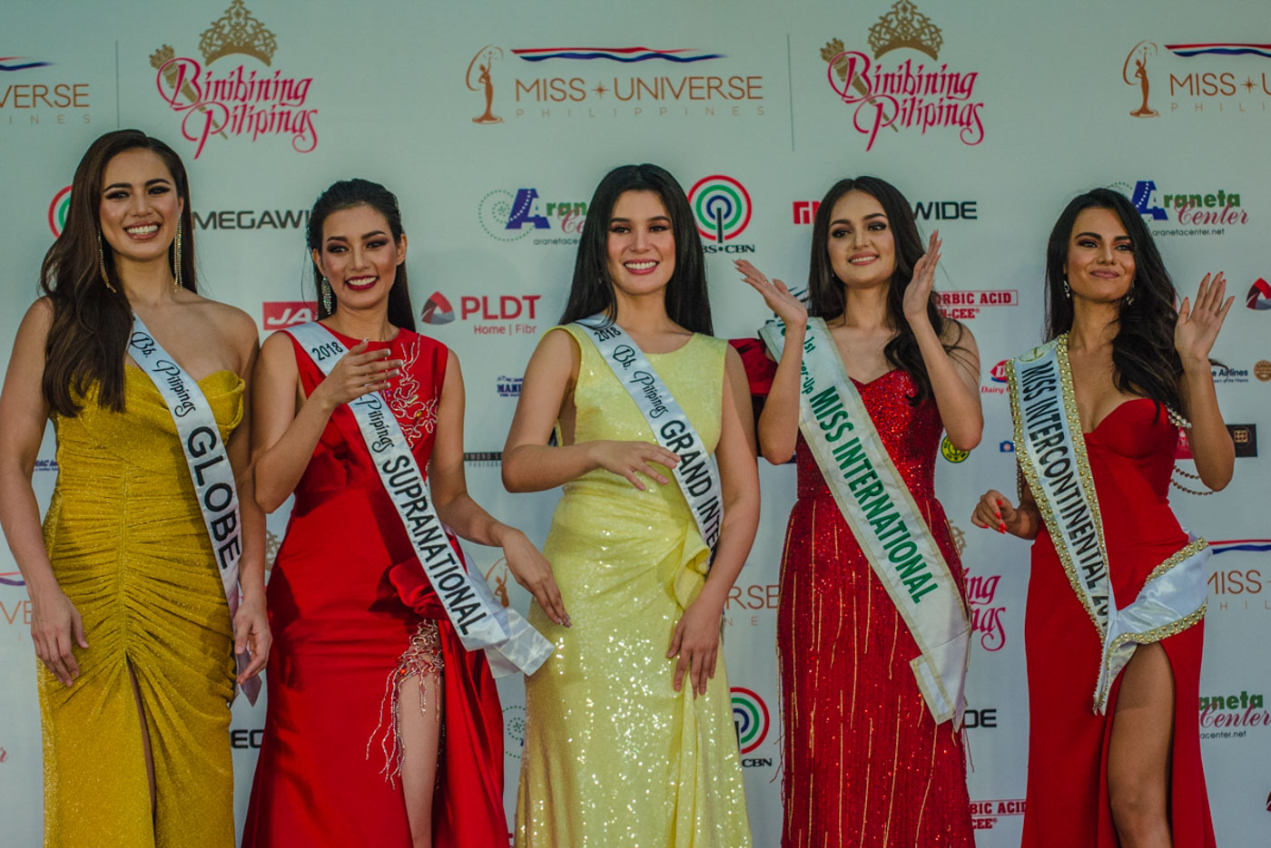 2018 QUEENS. The 5 Bb Pilipinas queens pose for a photo during the Parade of Beauties.