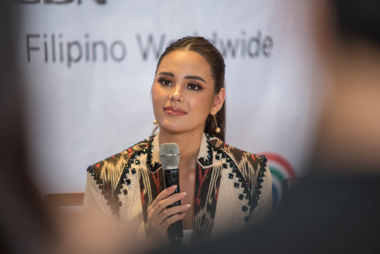 VALUES. Catriona says it's a sad reality that there are still people who criticize and make jokes about women of color, referring to the bashing Miss Universe 2019 Zozibini Tunzi's been getting. Photo by Rob Reyes/Rappler