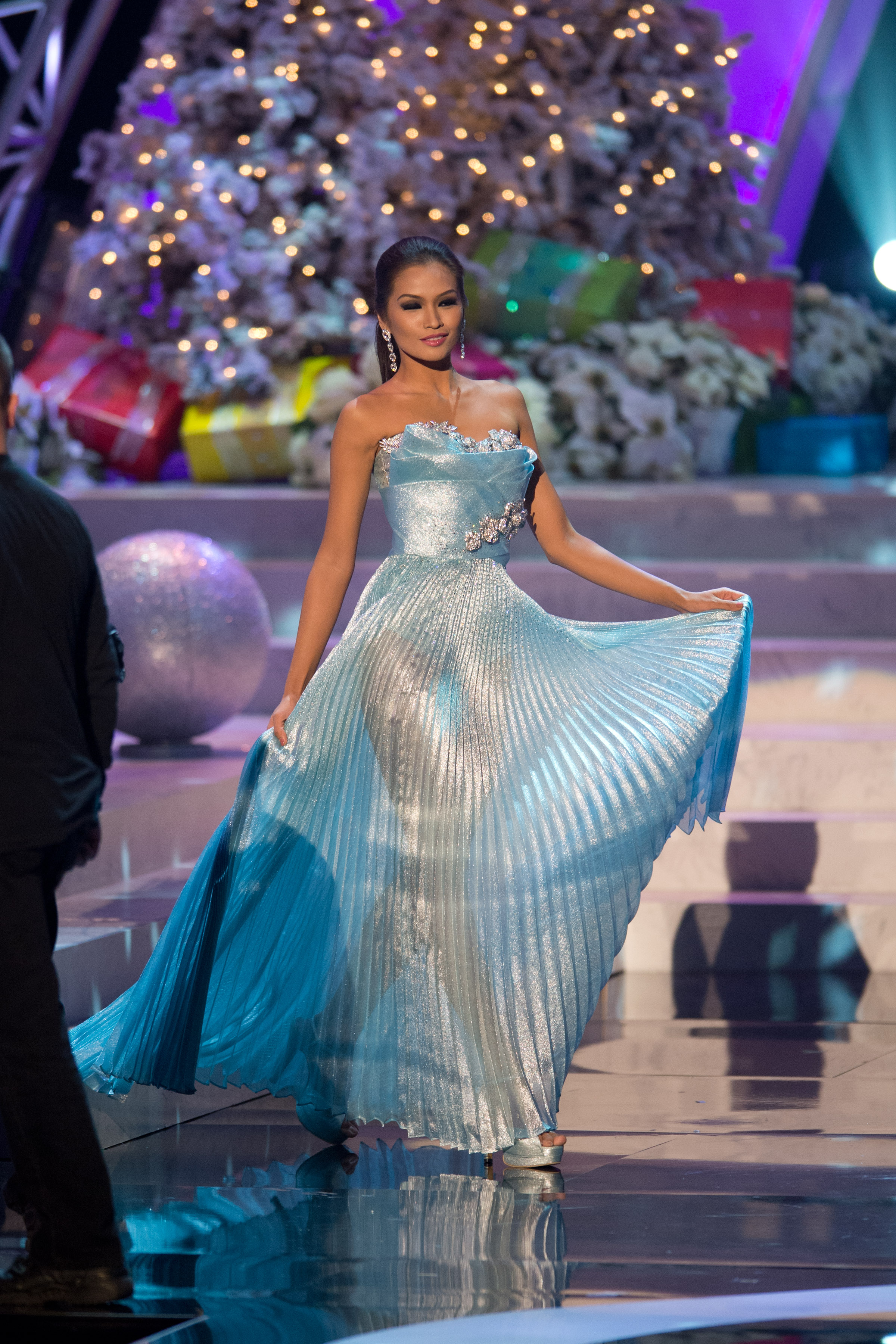 Janine Tugonon during the 2012 Miss Universe pageant in Las Vegas