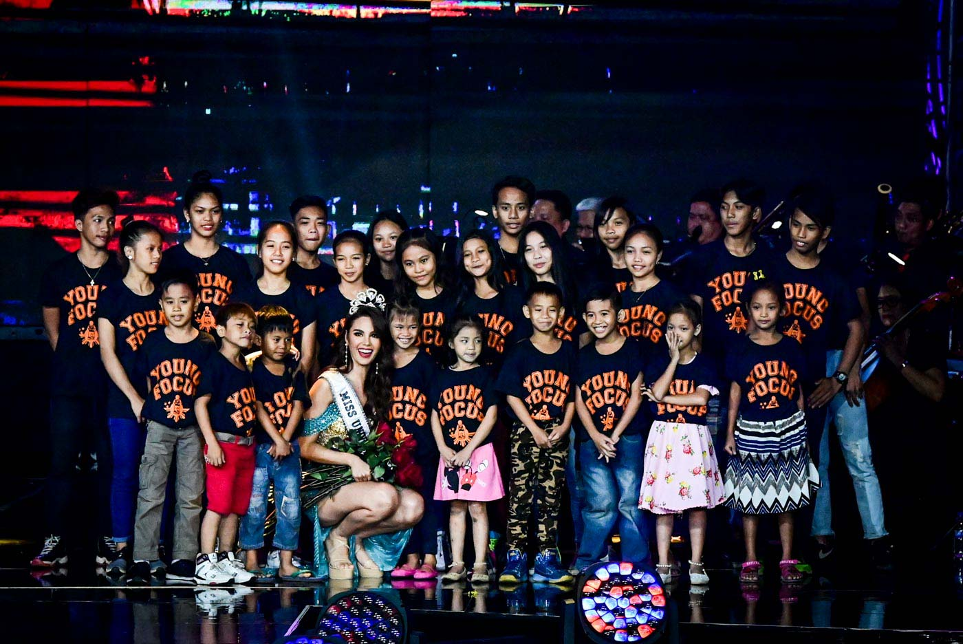 MOTIVATOR. Catriona's inspiration for Miss Universe, the kids of Young Focus Philippines.