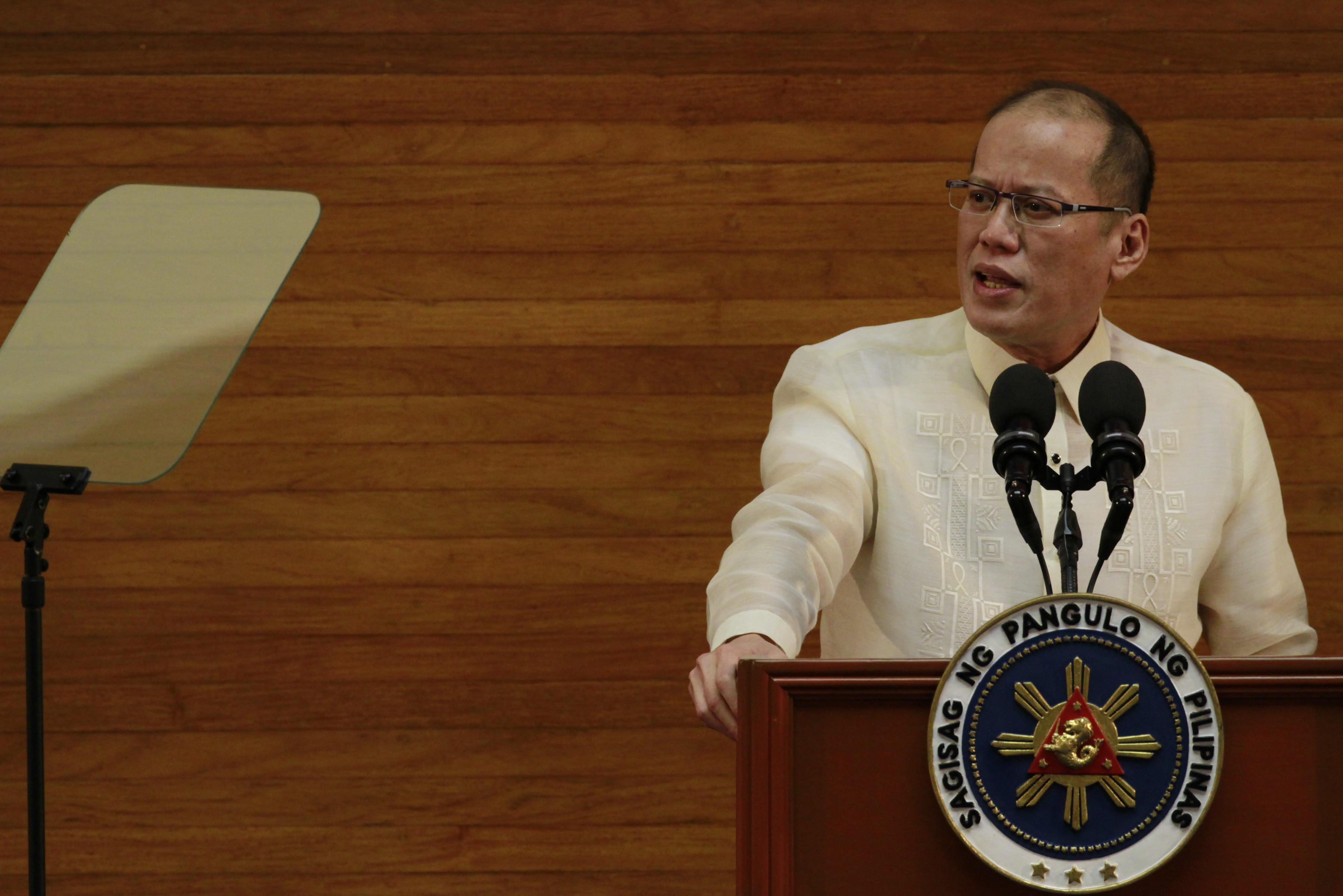 PNOY'S SONA. Former president Benigno S. Aquino III delivers his 6th and last State of the Nation Address (SONA) during the Joint Session of the 16th Congress at the Session Hall of the House of Representatives Complex in Constitution Hills, Quezon City. Photo by Rey Baniquet/Malacau00f1ang Photo Bureau