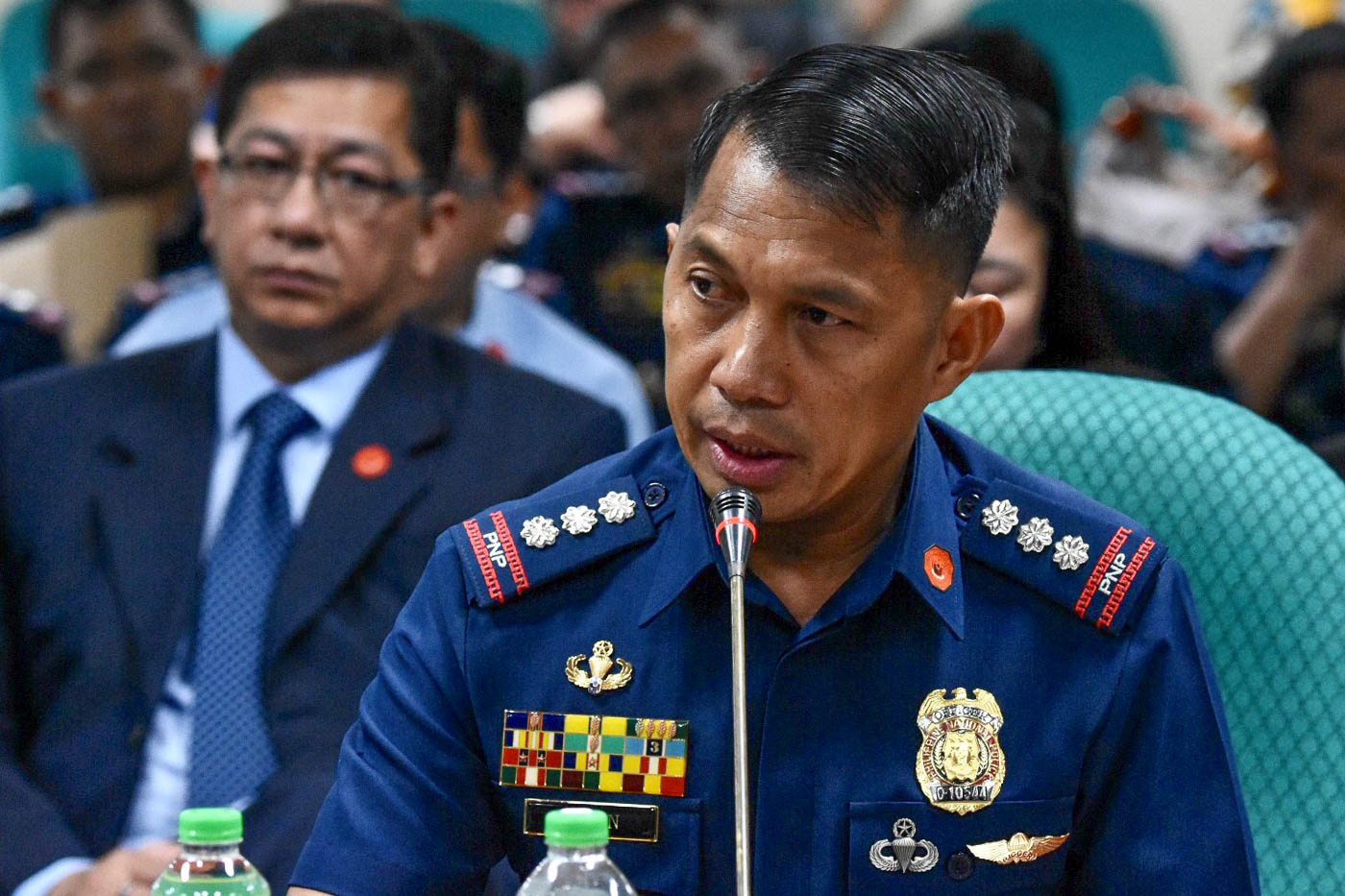 JUST FOLLOWING? Police SSupt Andre Dizon during the senate hearing on SAF funds on May 22, 2018. Photo by Angie de Silva/Rappler