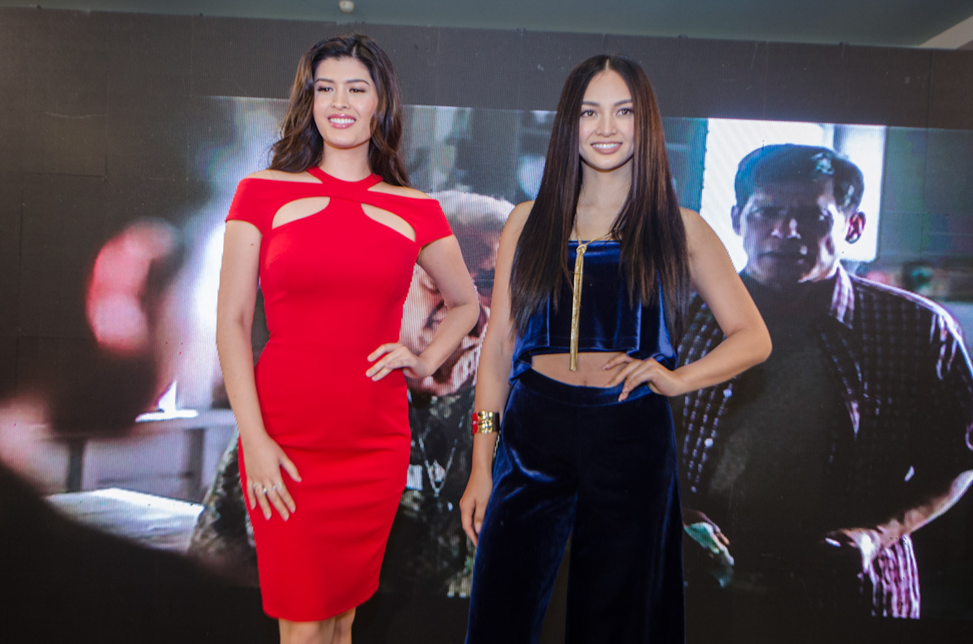 LEADING LADIES. Mariel de Leon and Kylie Verzosa are Coco Martin's leading ladies in 'Ang Panday.'