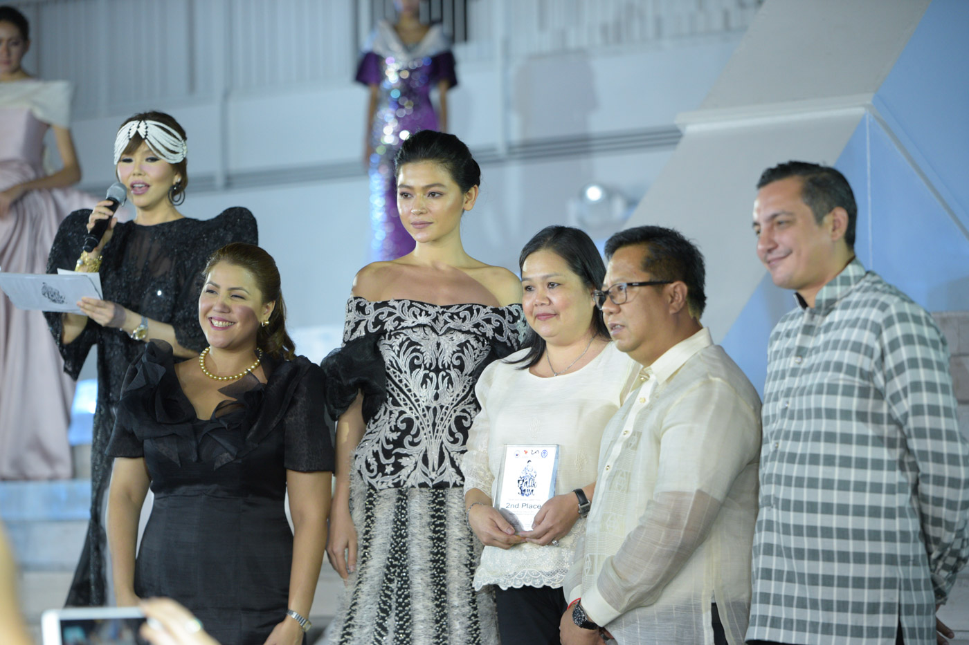 BLACK AND WHITE. Alaine Isabelle Leones design wins 2nd place and was accepted by her mom.