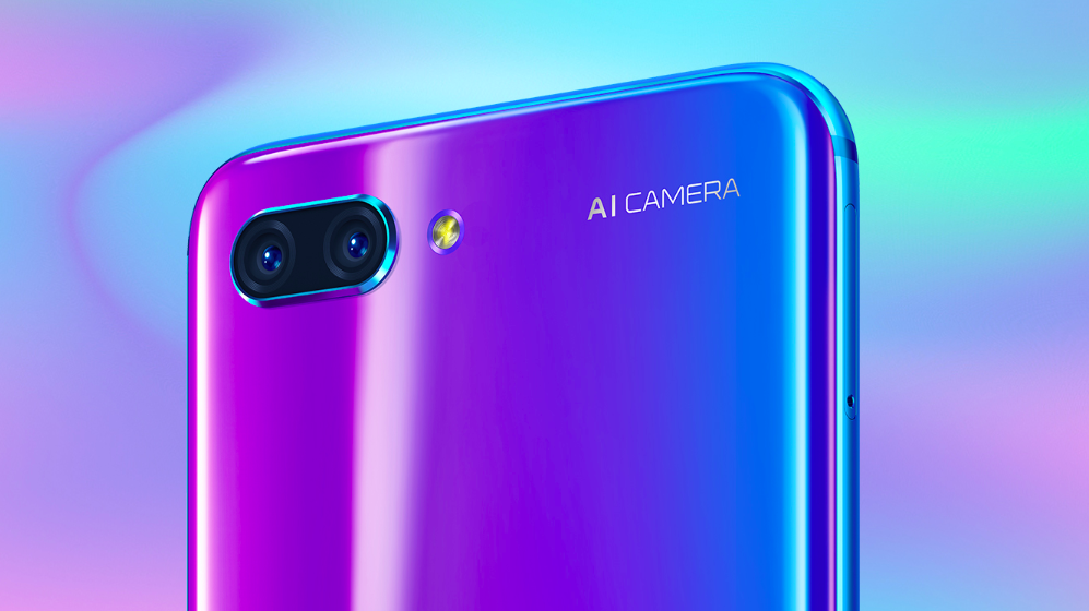 HONOR 10. The flagship from the budget brand features dual rear cameras, and an iridescent color option. All images from Honor