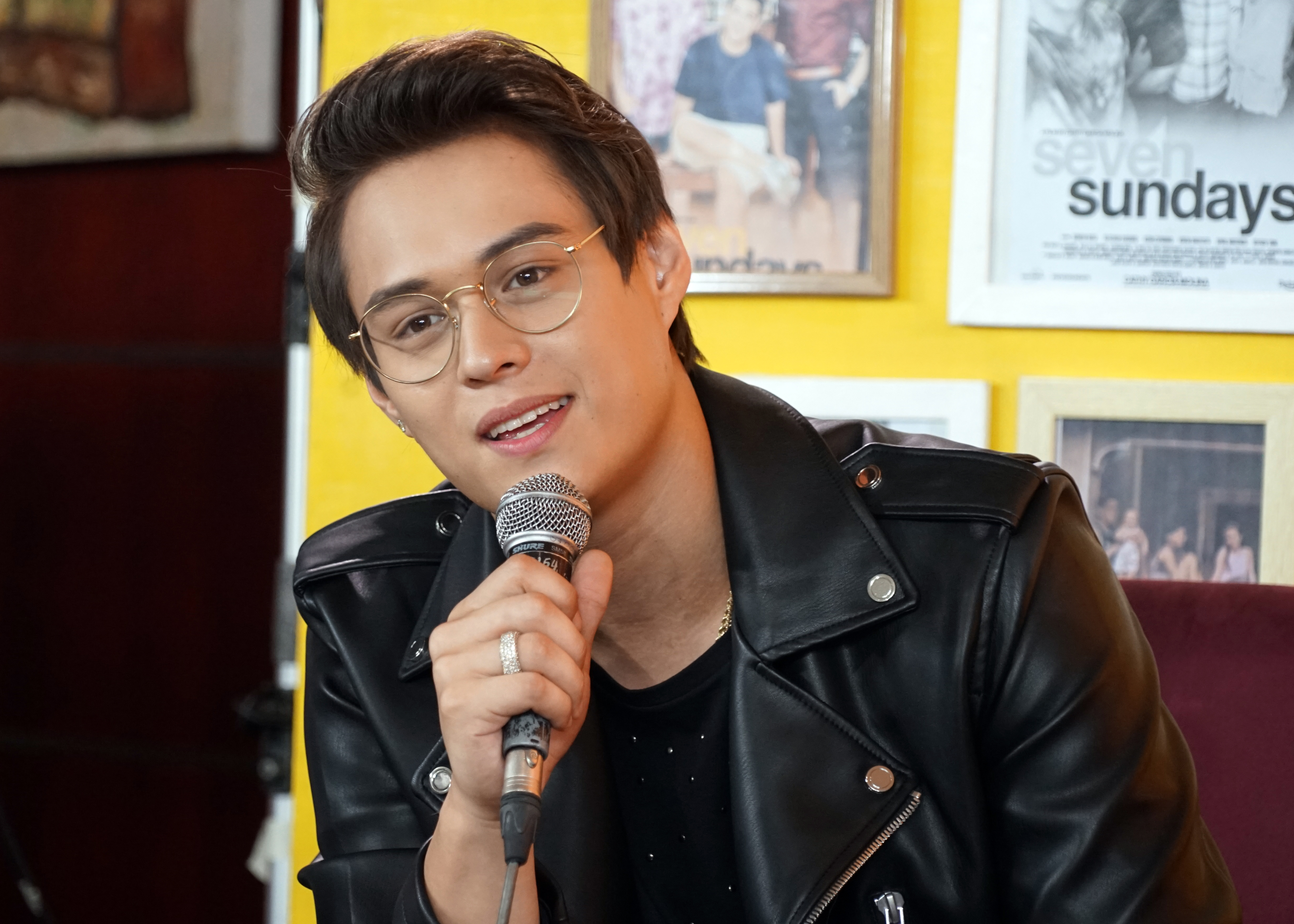 Enrique Gil says he just cried while doing the eulogy scene in the movie.