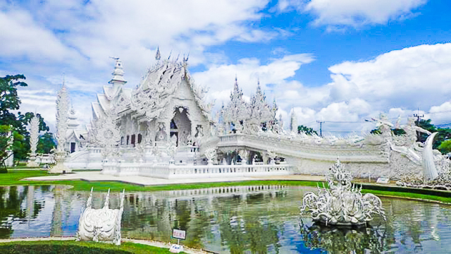 ALL WHITE. Wat Rong Khun symbolizes the struggle of man to attain enlightenment