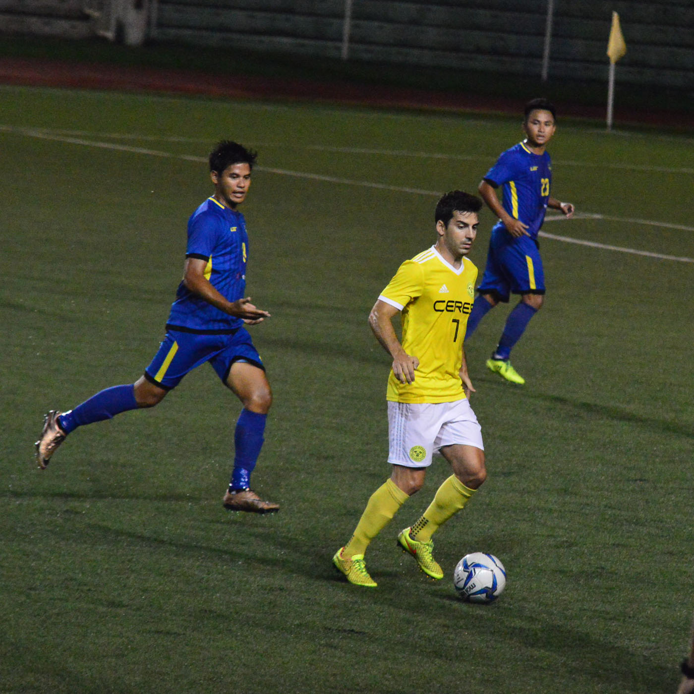 SUSPENDED. Ceres forward Bienve Marau00f1on will not play against Home United due to a two-match ban. Photo by Bob Guerrero/Rappler