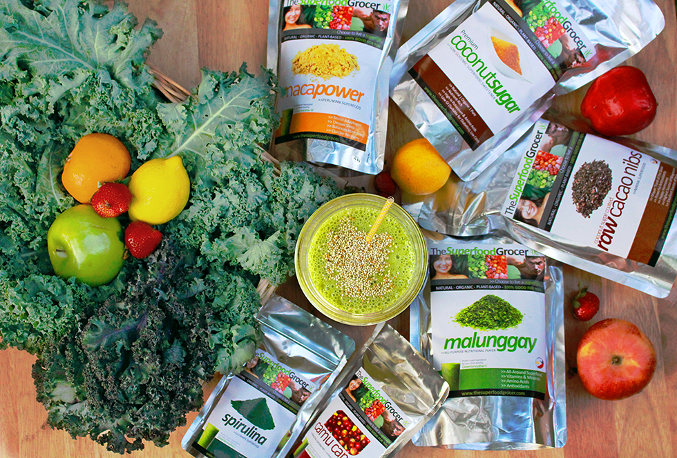 STARTERS. The Superfood Grocer's starter pack, which comes with a free downloadable 110-page Green Smoothie Starter Guide and recipes