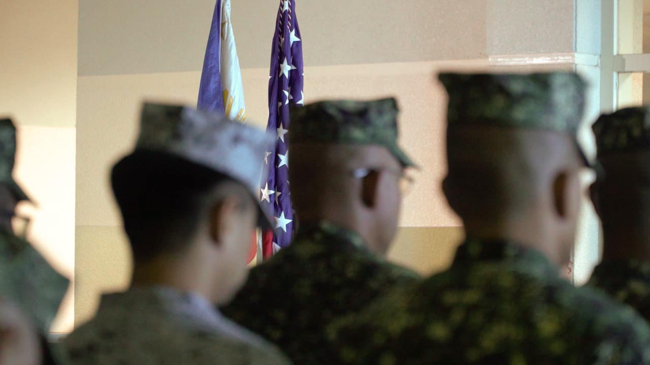 JOINT DRILLS. The Philippine Marines and US forces opened the 3rd KAMANDAG joint exercises at Subic Bay International Airport on October 9, 2019. Photo by Nappy Manegdeg/Rappler.com