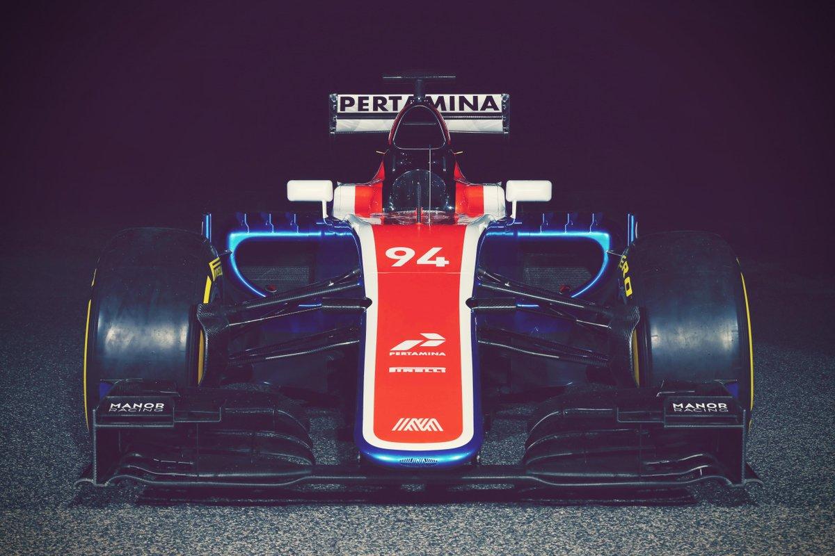 MRT05, kendaraan yang baru diluncurkan Manor Racing, menampilkan logo Pertamina. Foto dari Twitter