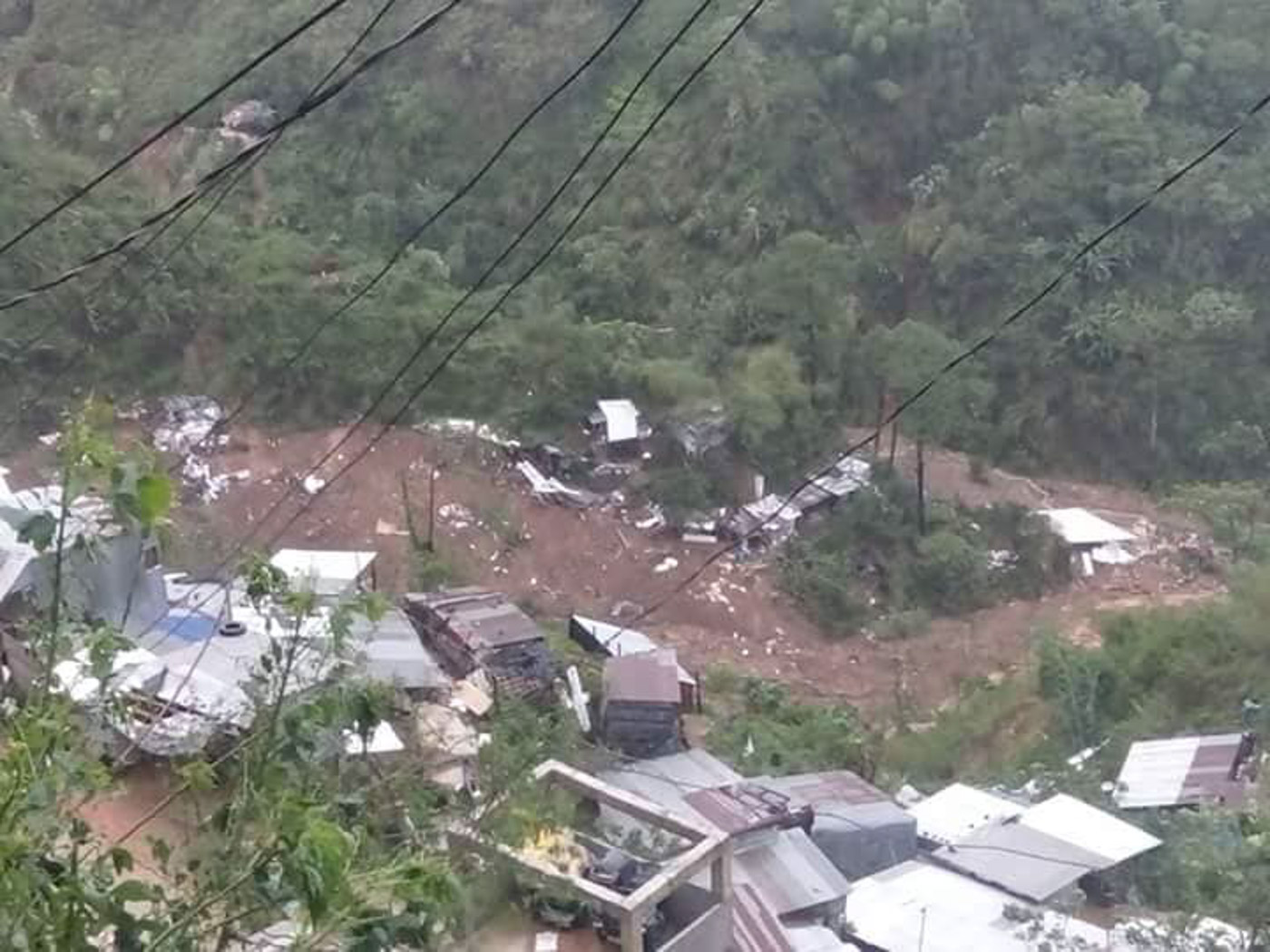 DEADLY LANDSLIDE. A massive landslide in Barangay Loacan in Itogon, Benguet killed at least 26 people. Photo courtesy of Lily Ann Rosal Ullani