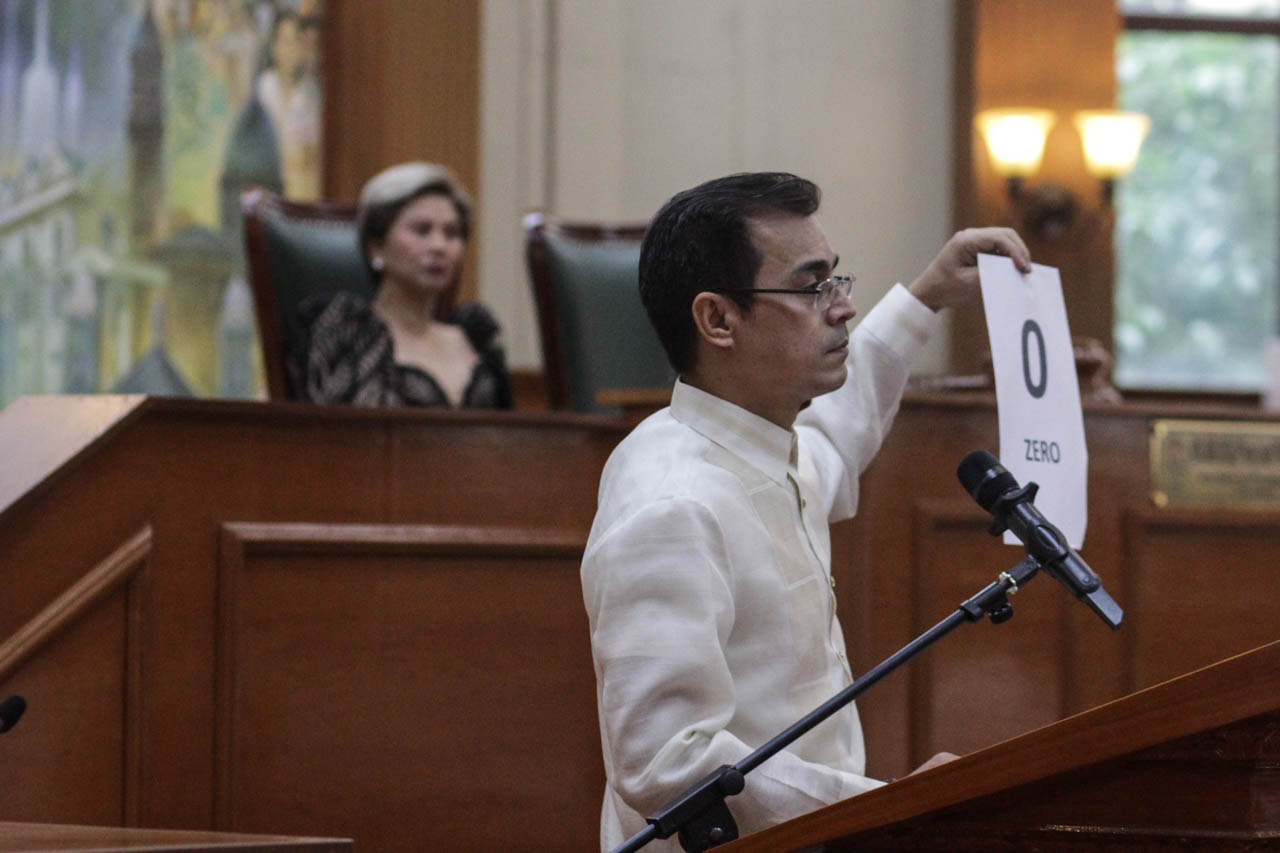 'ZERO'. Mayor Isko Moreno reports in his State of the City Address on Julu 1, 2019, that his predecessor's transition team did not turn over any documents to his team. Photo by: Lito Borras/Rappler
