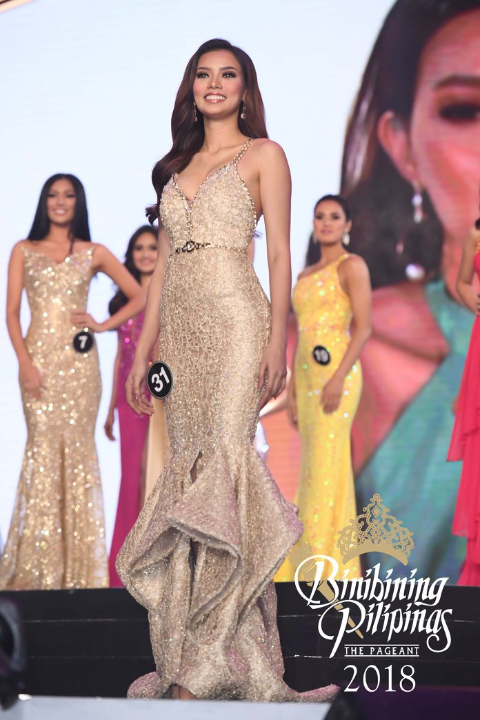 NEVER GIVE UP. Jehza Huerlar stikes a pose after she was called during coronation night. Photo from Facebook/Bb Pilipinas
