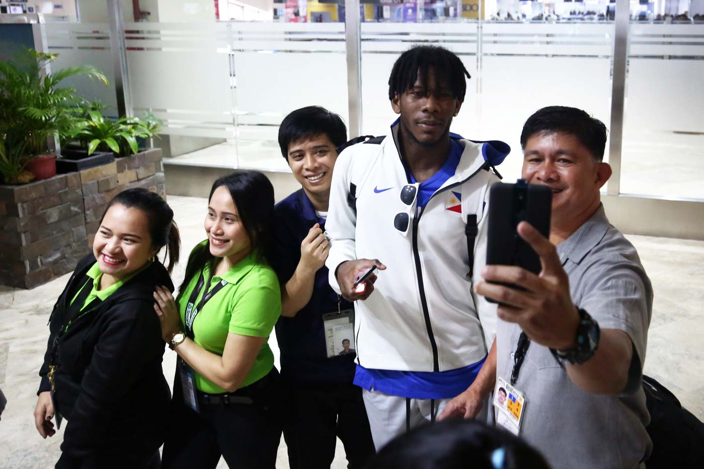 FAN FAVORITE. Cjay Perez is surrounded with fans after his key contributions in the Philippines' short-live 2019 FIBA World Cup stint. Photo By Ben Nabong/Rappler