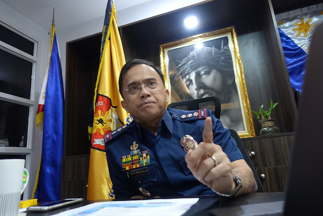 PNP'S VOICE. Police Spokesperson Senior Superintendent Benigno Durana at his office in Camp Crame. Photo by Rambo Talabong/Rappler