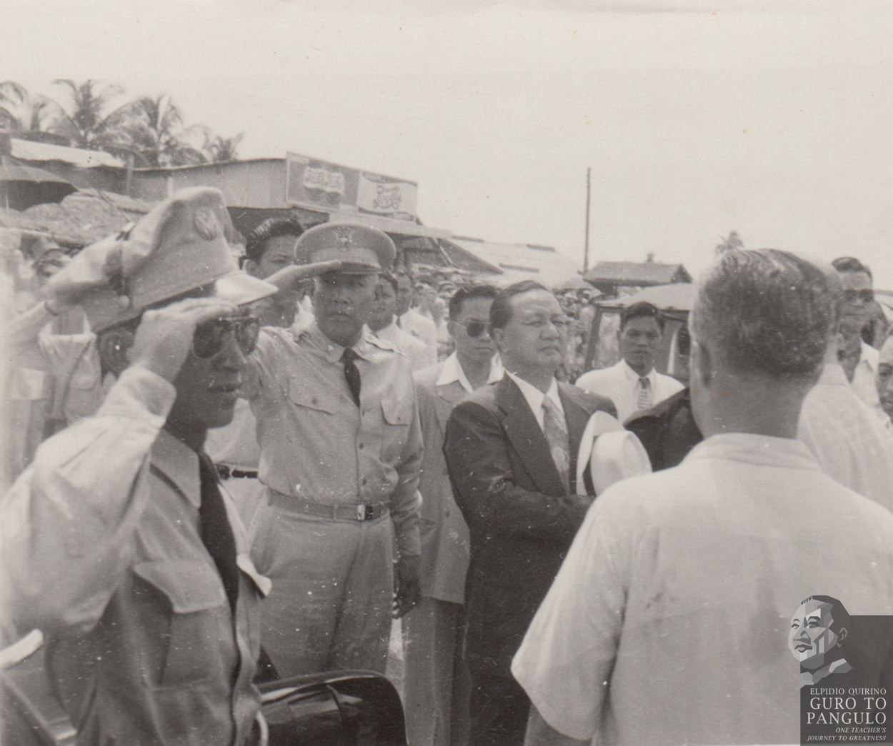 President Elpidio Quirino, responsible for accepting thousands of White Russians into the Philippines, visited the camp in Tubabao on October 28, 1949. When he was there, he noticed a barbed-wire fence surrounding the camp and immediately ordered to have it taken down. This, to the refugees, was a noble act of kindness, one that made them feel they were not in a refugee camp but that they were trustworthy and peace-loving people who belonged to society. Photo by Nikolai Hidchenko