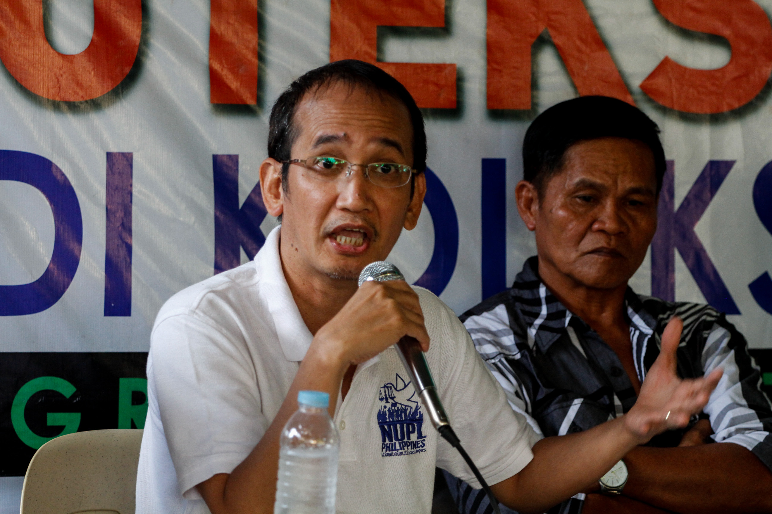 NUPL LAWYER. Atty Edre Olalia gives updates on Mary Jane's case during a press briefing. Photo by Mark Saludes/Rappler