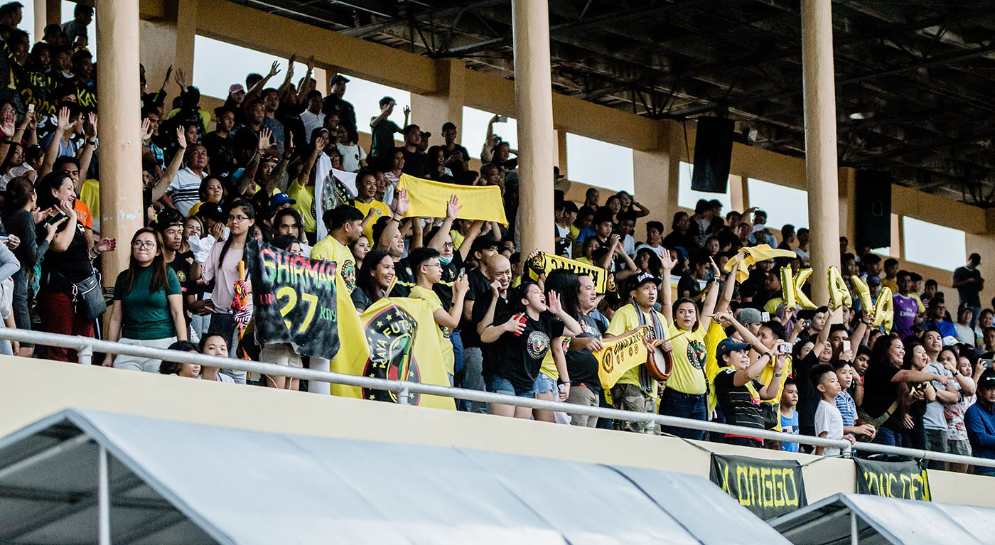 CROWD SUPPORT. Club general manager Paul Tolentino says the Ilonggo fans are impressively knowledgeable and energetic. Photo courtesy of Kaya FC-Iloilo