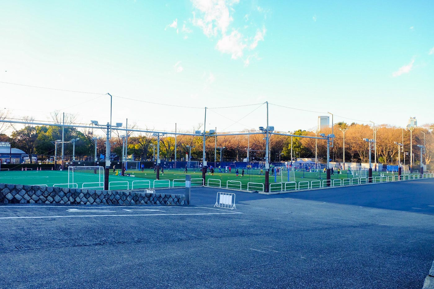 PRACTICE PITCH. Japanese don't forget their football as kids frequent the pitch beside the Yoyogi National Gymnasium. Photo by Beatrice Go/Rappler