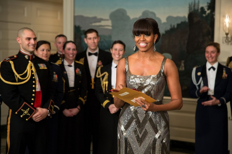 TOO PUBLIC? US First Lady Michelle Obama has drawn criticism for her appearance as a presenter in the Academy Awards. AFP PHOTO/THE WHITE HOUSE/PETE SOUZA