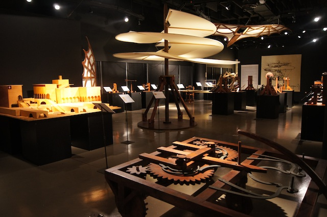 TRAVELING EXHIBIT. A view of one of the exhibit areas of Da Vinci: The Genius at The Mind Museum. Photo courtesy of The Mind Museum