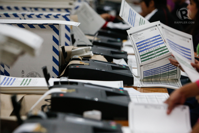 RECORD-BREAKING. The NPO finishes printing 52.3 million ballots 3 weeks before the deadline. File photo by Rappler/John Javellana