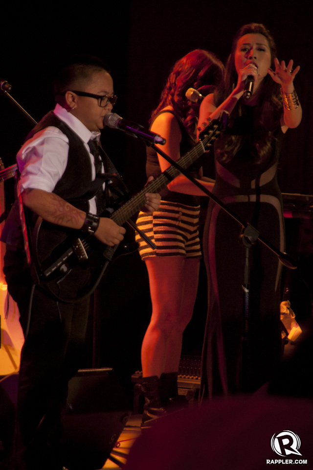 WITH THE BAND. Aiza Seguerra performs with all-girl band General Luna