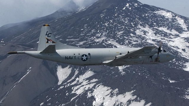 SPY PLANES. The US Navy's P3C Orion spy planes, which the Philippines may request from the US, carry armaments. Photo from the US Navy