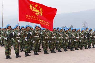 'NOT THREATENING.' China dispels fear of its military that is marking its 85th anniversary. Photo courtesy of PLA Daily/China Daily