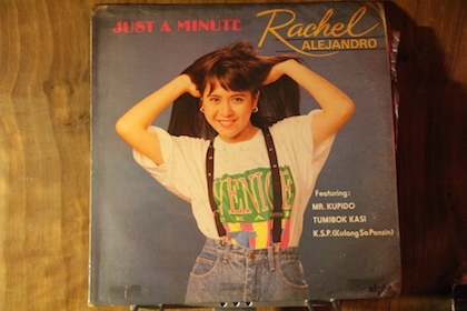 RACHEL'S FIRST ALBUM WAS released as an LP in 1989, a time when Filipino music was king of the airwaves. Photo courtesy of Rachel Alejandro