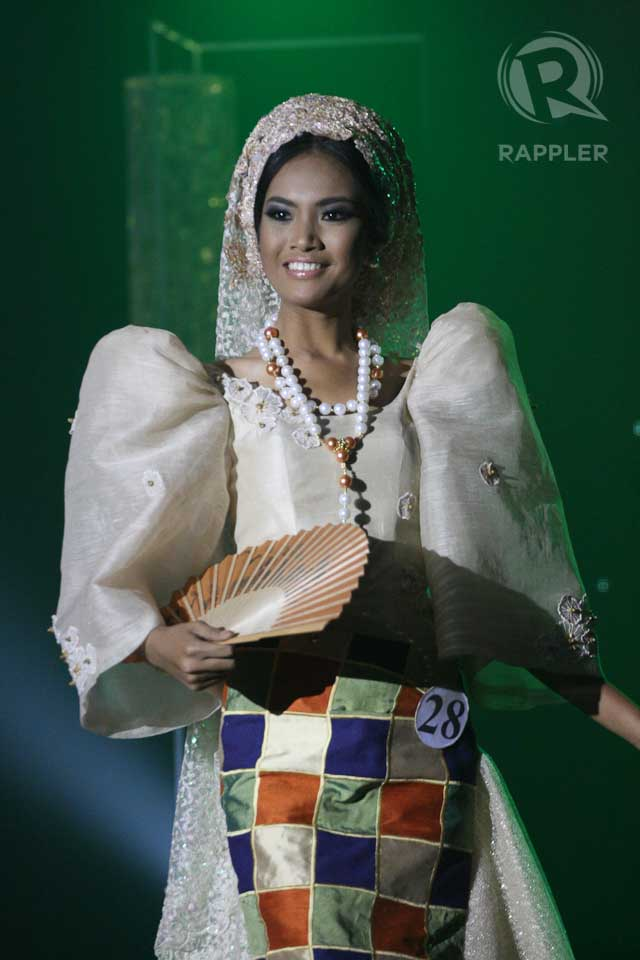 NATIONAL COSTUME COMPETITION. Mercegrace Raquel at the March 18 press presentation at Makati Shangri-La Hotel. Photo by Manman Dejeto
