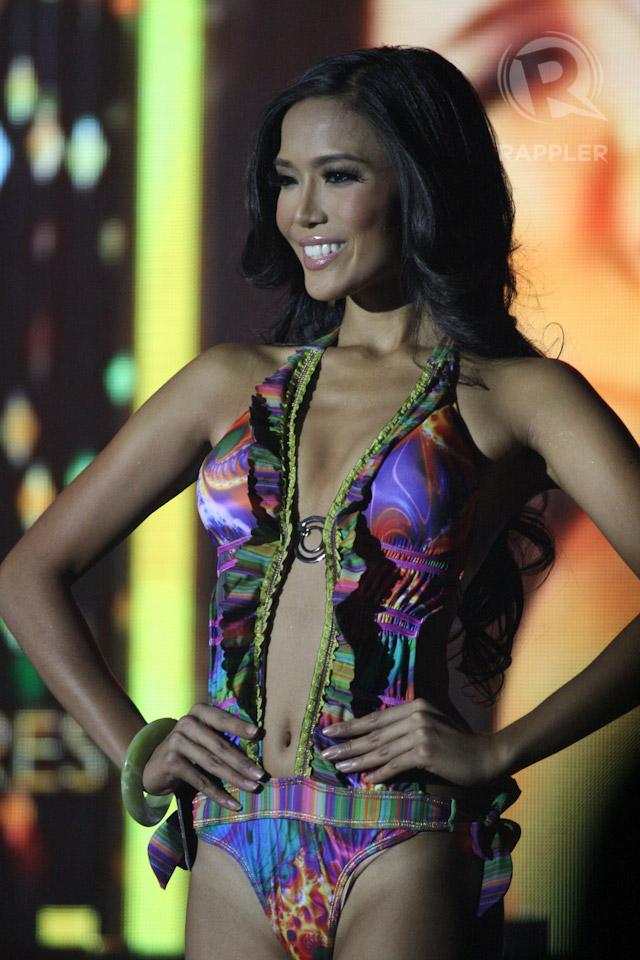 SWIMWEAR COMPETITION. Zandra Flores at the March 18 press presentation at Makati Shangri-La Hotel. Photo by Manman Dejeto