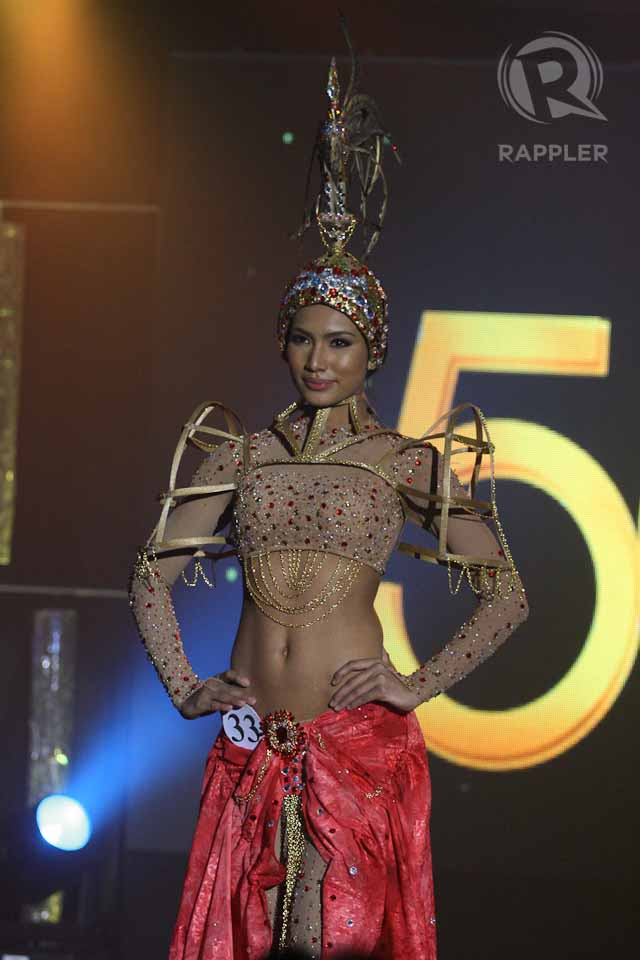 NATIONAL COSTUME COMPETITION. Parul Shah at the March 18 press presentation at Makati Shangri-La Hotel. Photo by Manman Dejeto