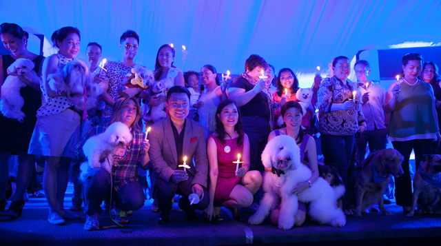 PAWS AND EARTH HOUR. Lights were dimmed also to commemorate all the animals that have passed