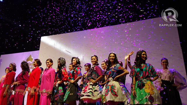 ONCE MORE, CONFETTI. The ladies bid the fashion show audience farewell the way they did the Parade of Beauties crowd
